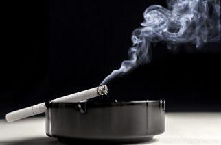 Ashtray cigarette and smoke