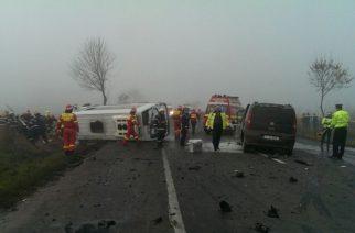 Trei morţi şi 14 răniţi, într-un accident rutier petrecut pe DN2, în Şindriliţa
